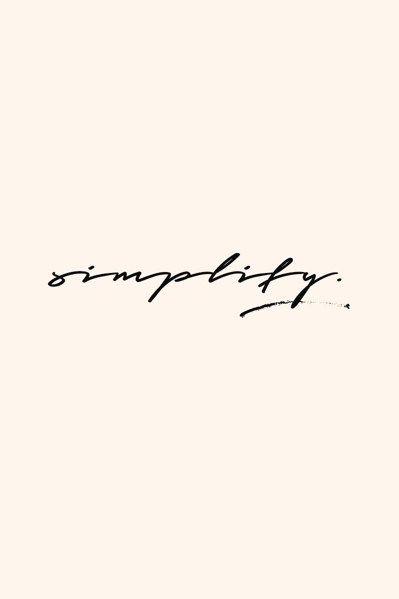 A&Co_Handwritten poster_Simplify