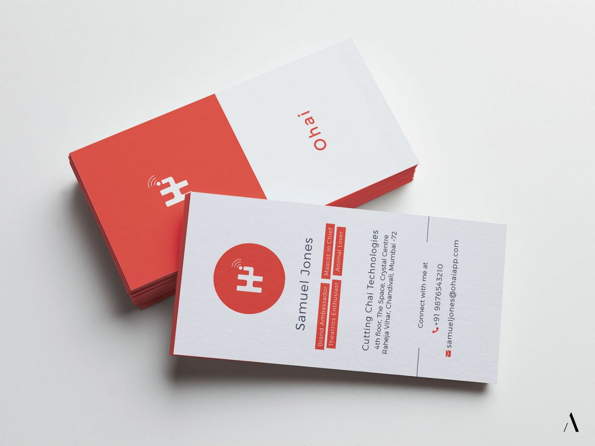 Business Cards for brand Ohai app
