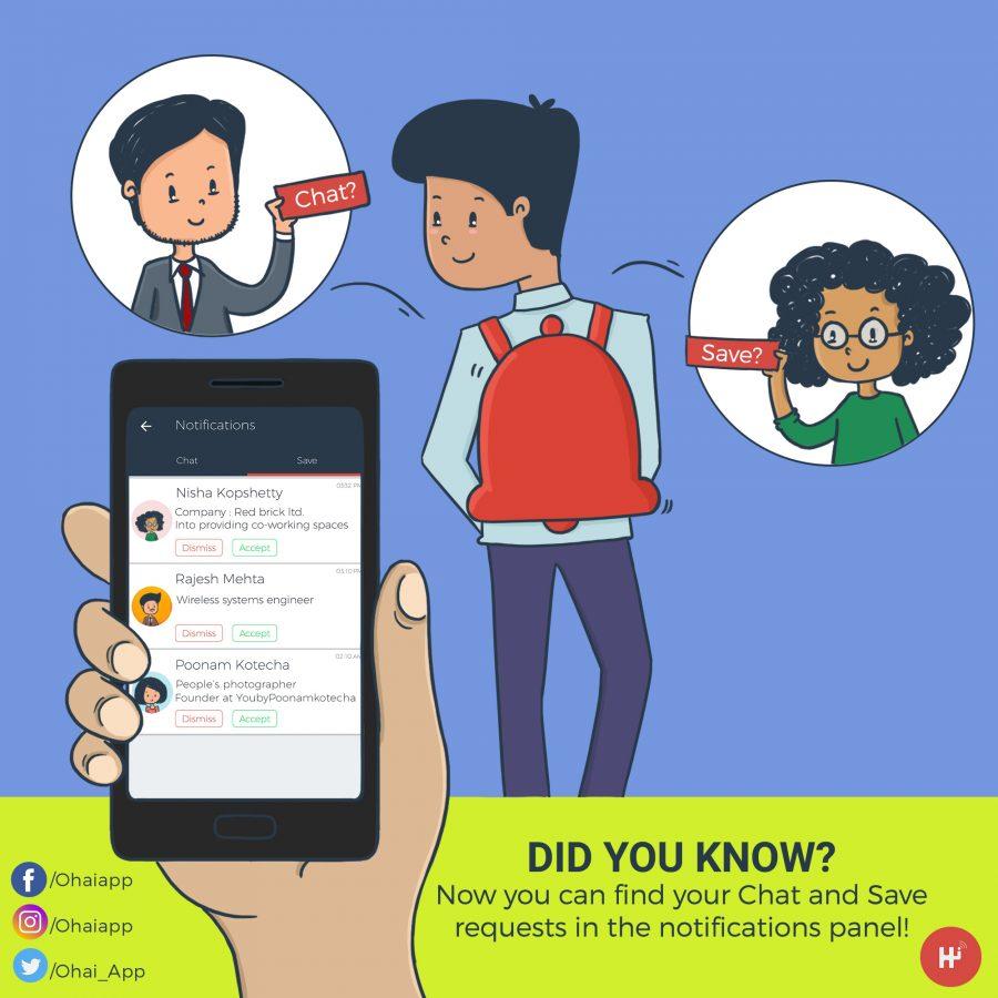 Notification Panel update illustration for mobile app Ohai