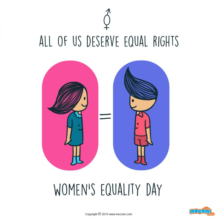 Illustration depicting equality between sexes to promote awareness and support for women's equality day. Commissioned by Mocomi for their facebook page.