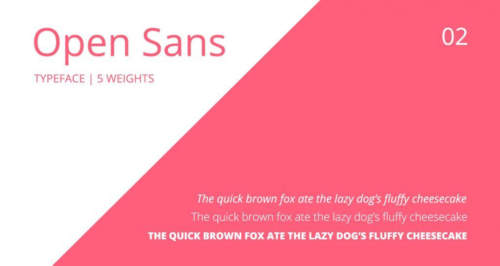 Open Sans font details