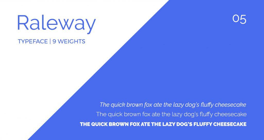 Raleway font details