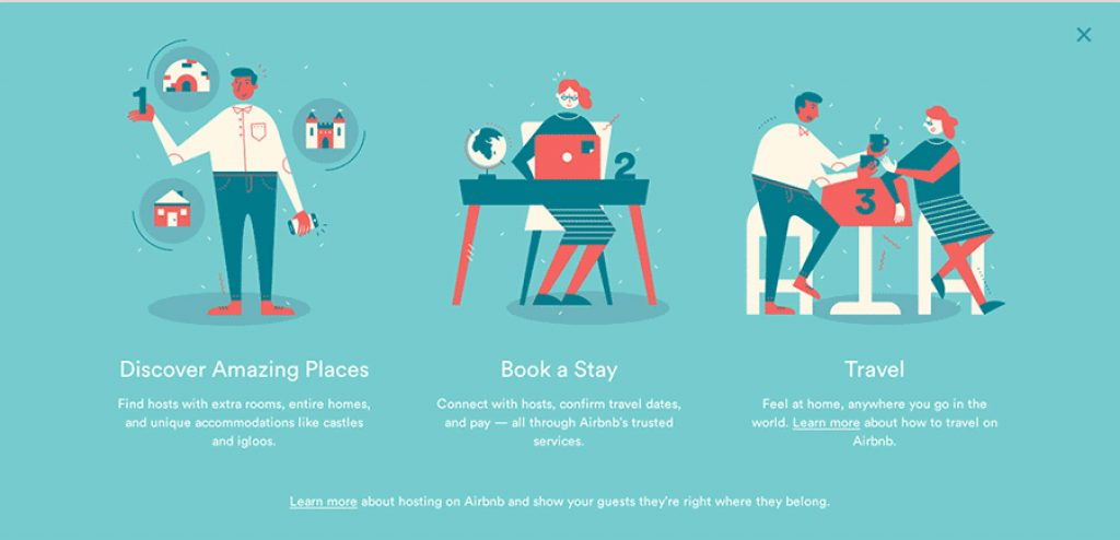 Brand illustration - Airbnb