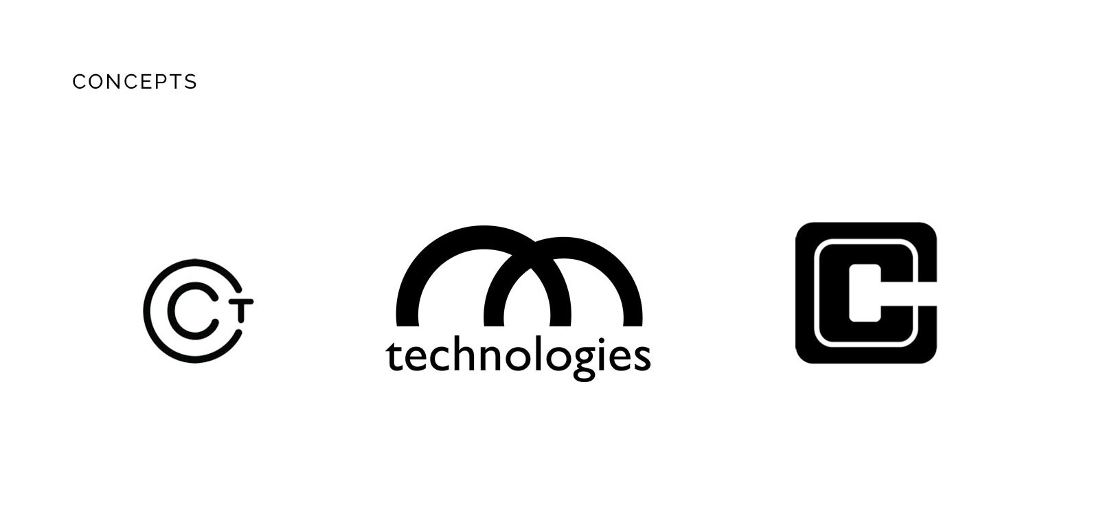 Concepts for the new cutting chai tech logo